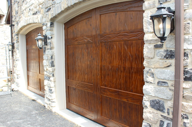 Wooden garage doors rustic garage other by m4l inc for Rustic wood garage doors