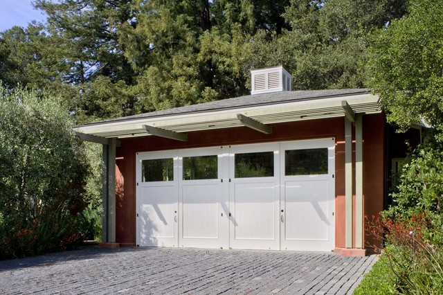 Woodside Guest House contemporary-garage-and-shed
