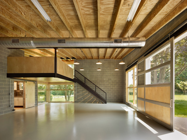 attic ideas houzz - Workshop for a Machinist Contemporary Garage