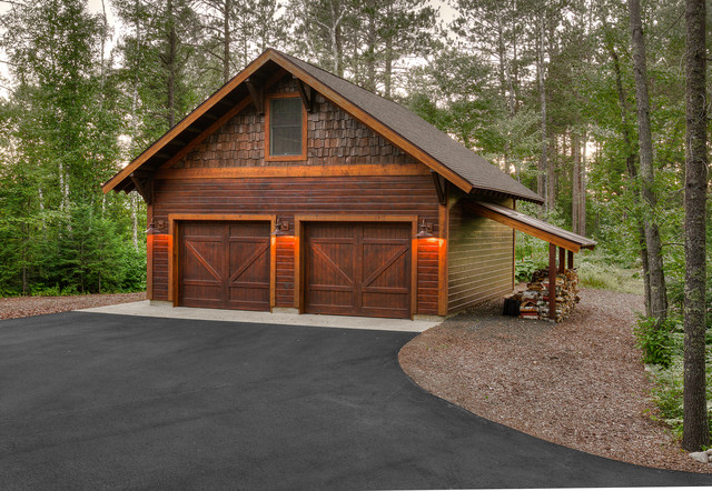 Rustic garage plans with apartment home desain 2018 for Log garages with apartments