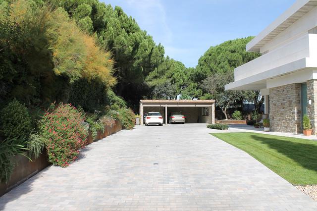 Casa pozuelo moderno garaje madrid de e3a estudio3 - Arquitectos en madrid ...