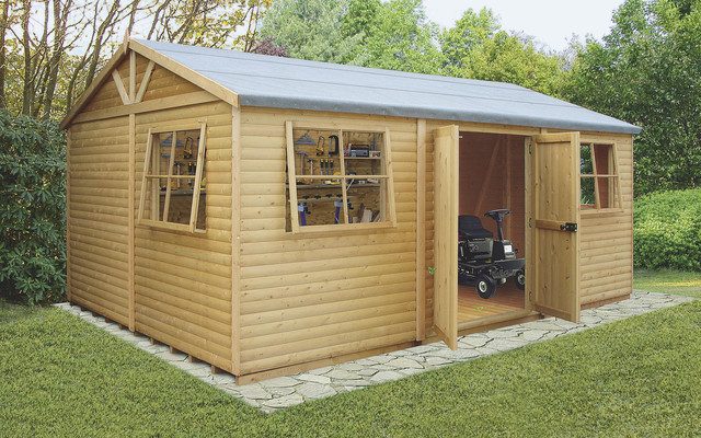 Genial 12 X 24 Mammoth Wooden Shed Workshop Contemporary Garden Shed And Building