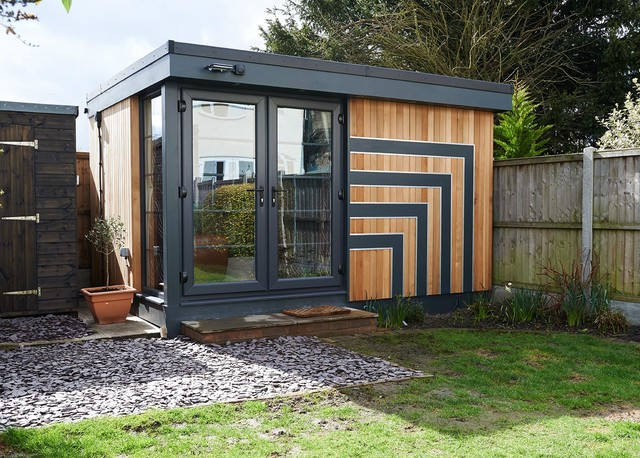 Art deco inspired recording studio chelmsford modern for Garden shed music studio