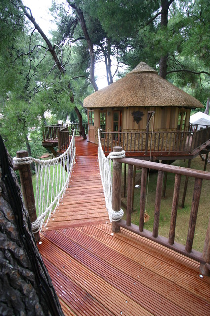 Blue Forest Tree House eclectic-exterior