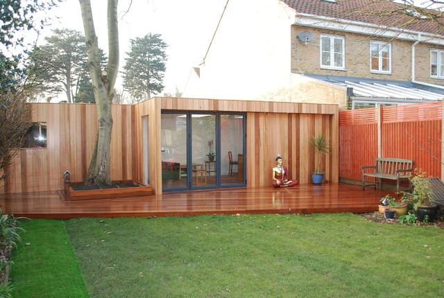 clapham garden room Contemporary Garden Shed and Building