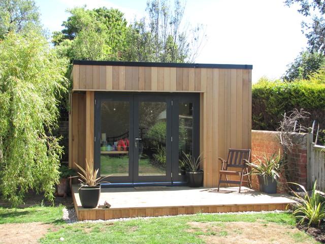 Contemporary garden studio contemporary garage and for Garden studio rooms