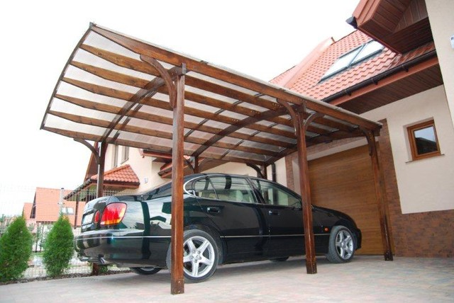 Ecocurves Glue Laminated Carport Tunbridge Modern Garage
