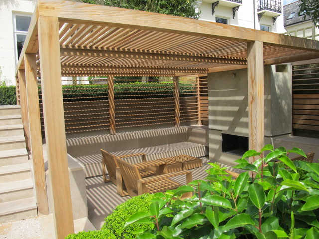 Formal Structural Garden Contemporary Garden Shed And