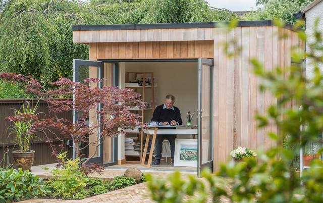Garden room art studio contemporary garden shed and for Modern garden studio