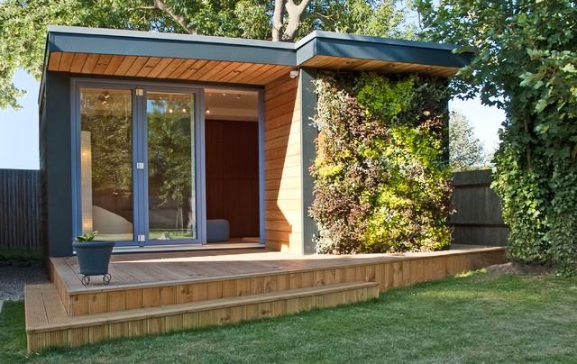 garden room in kent modern shed