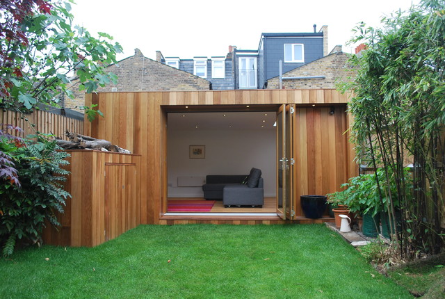 Garden room Wandsworth - Contemporary - Garden Shed and ...
