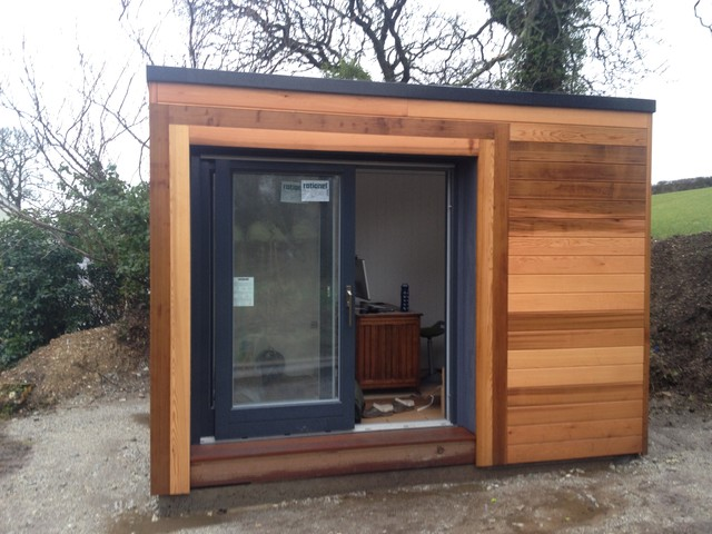 Home Office With Extra Sound Proof Insulation Contemporary Shed