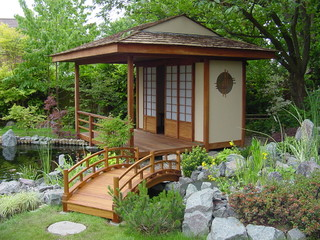 Japanese teahouse and koi pond brentwood for Garden pond builders essex