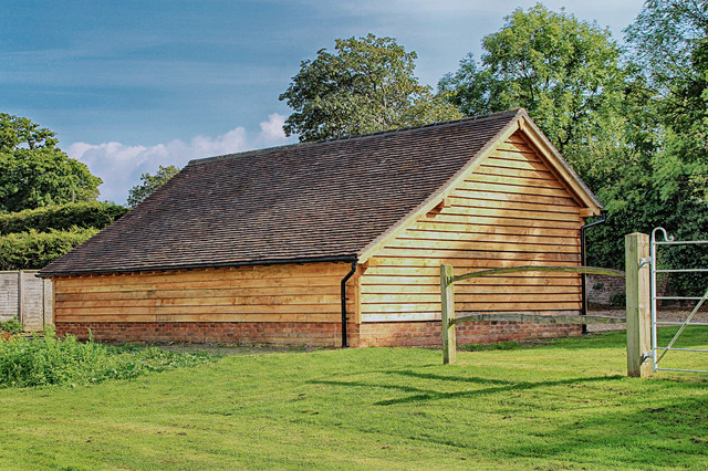 Oak Framed Garage And Barns Traditional Garden Shed