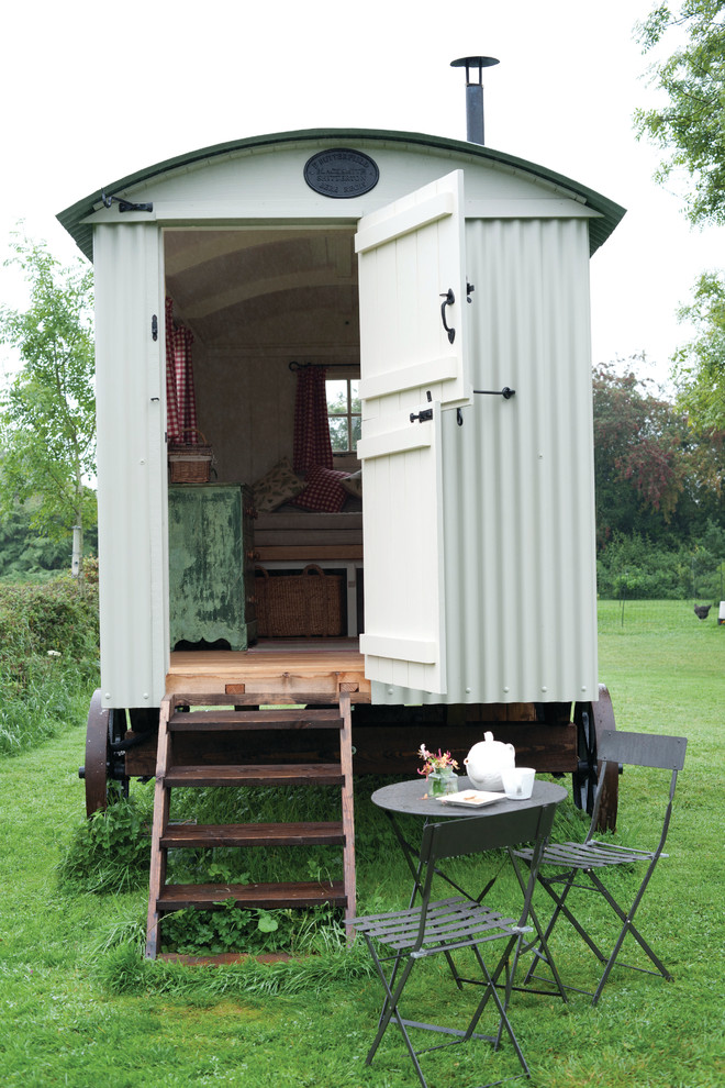 This is an example of a farmhouse garden shed and building in Dorset.