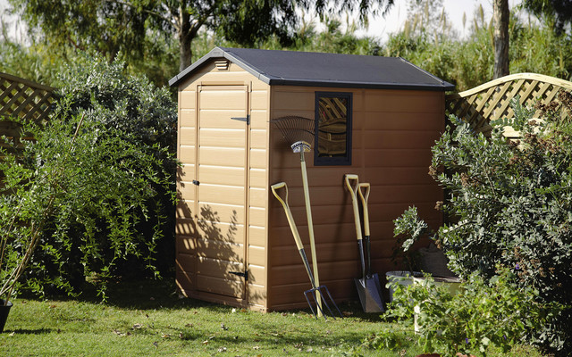 Plastic shed contemporary garden shed and building - Practical and affordable contemporary plastic garden furniture ...