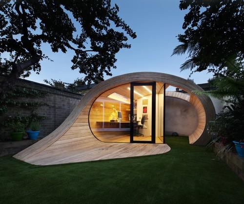 Par platform 5 architects alan williams trouvez plus de réalisations d abris de jardin modernes