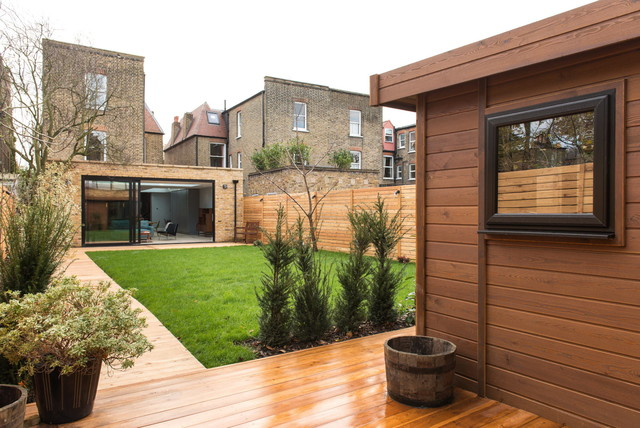 siberian larch decking and garden office cladding