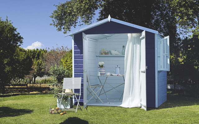 Wooden summerhouse contemporary garden shed and building for Garden rooms b q