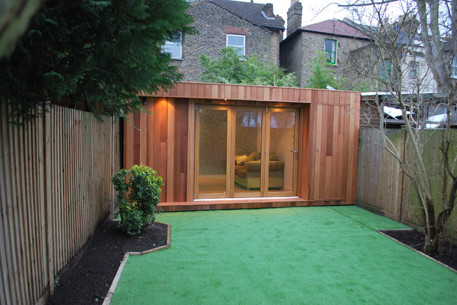 Contemporary garage and shed for Garden rooms uk