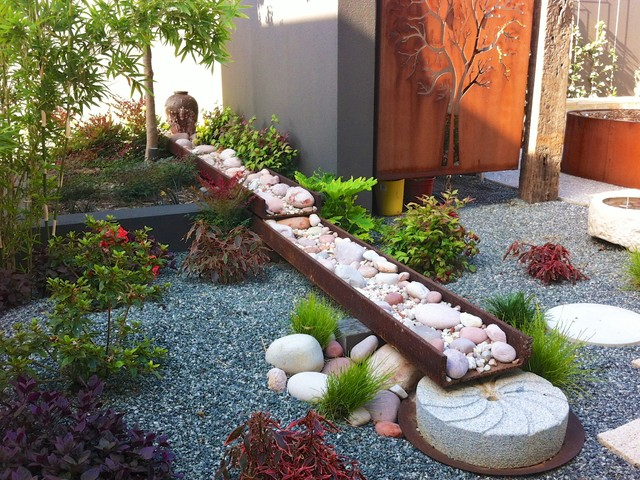 A japanese garden contemporary landscape perth by for Sustainable garden design