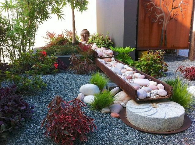 A japanese garden contemporary landscape perth by for Asian landscape design