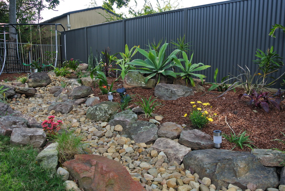 A new garden - a dry creek bed - Tropical - Landscape ...