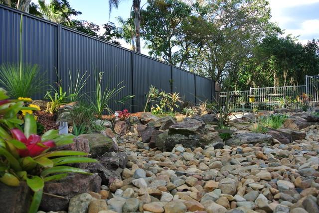 incredible tropical garden brisbane | A new garden - a dry creek bed - Tropical - Garden - Brisbane