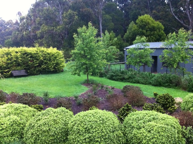 A rural garden daylesford vic traditional landscape for Rural landscape design
