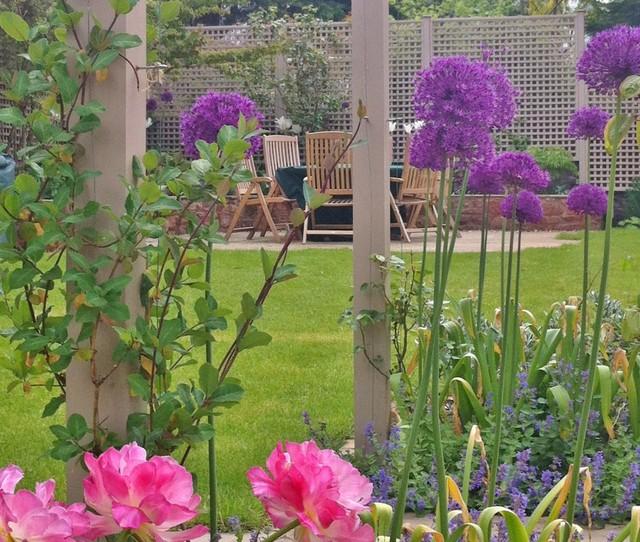 Garden Furniture Edinburgh alliums, tulips and garden furniture - traditional - garden