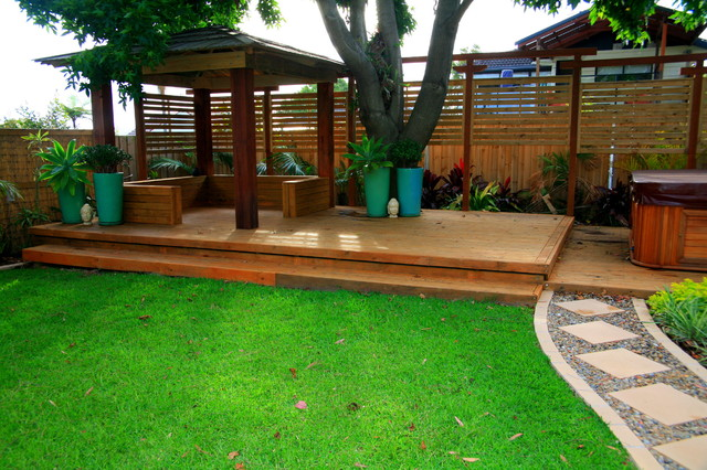 Balinese style garden design exotique jardin other for House architecture design garden advice