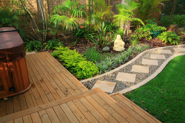 Balinese Style Garden Design - Asian - Landscape - sydney - by Space Landscape Designs
