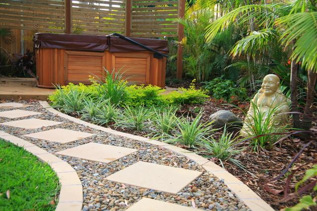 Balinese style garden design asian landscape other for Asian inspired garden designs