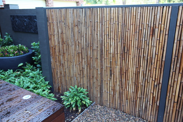 Bamboo fencing privacy screens tropical garden Bamboo screens for outdoors
