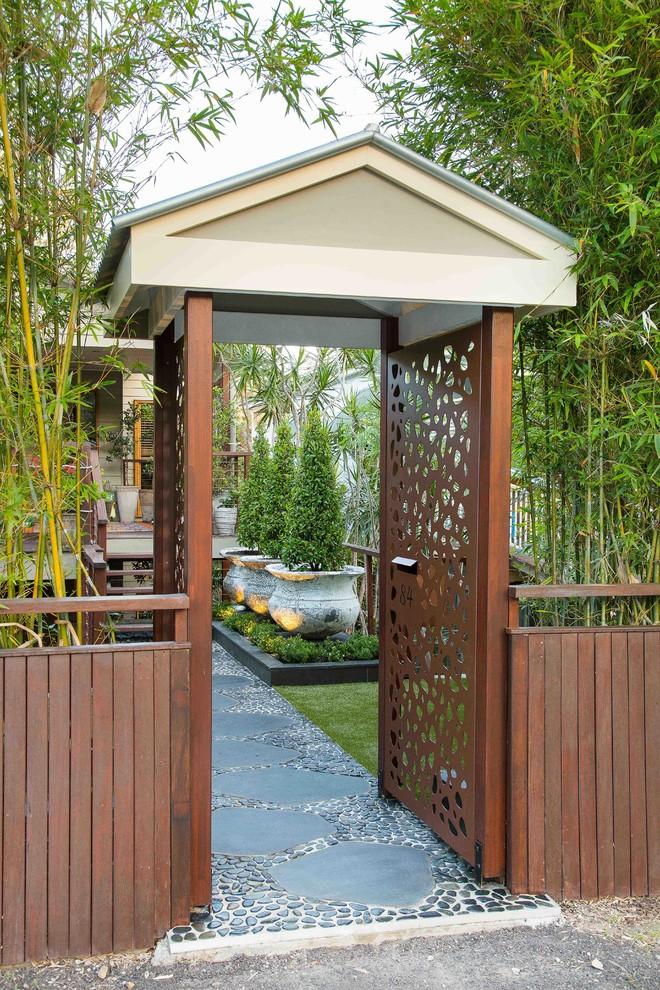 Bardon - Front entry garden - Contemporary - Landscape ...