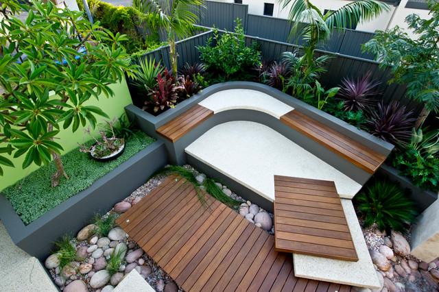 Urban courtyards tropical garden other metro by for Tropical courtyard garden design