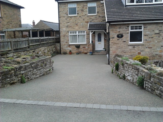 Before and After Resin Driveways contemporary-landscape