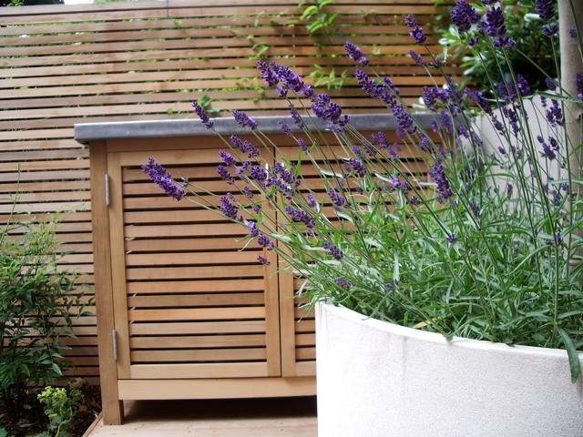 Bespoke Garden Storage Contemporary Garden London