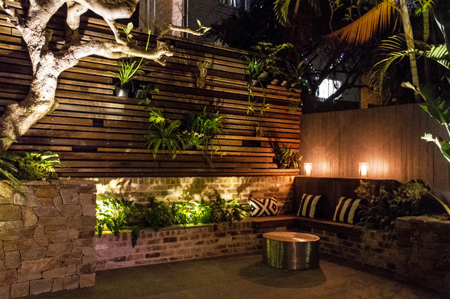 Bondi courtyard industrial garden sydney by stone for Houzz landscape architects