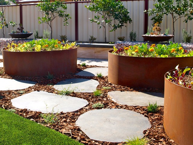 Canningvale contemporary landscape perth by for Sustainable garden design