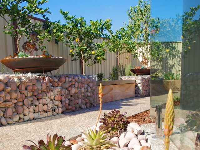 Sustainable Backyard Ideas :  Contemporary  Landscape  perth  by sustainable garden design perth