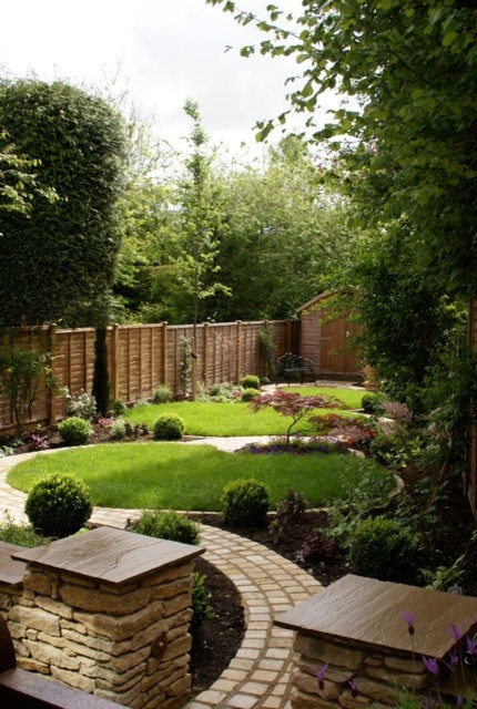 circle garden rustic landscape hertfordshire by