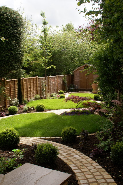 Circular garden rustic landscape south east by for Landscape ideas for long gardens