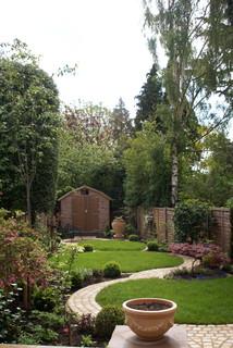 Circular Garden - Rustic - Landscape - Hertfordshire - by Green Tree Garden Design Ltd