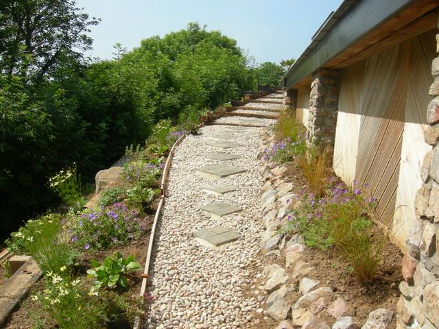 Landscape Garden Design Swansea : Coastal contemporary garden gower