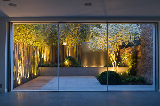 Exterior lighting houzz photo of an asian landscaping in london mozeypictures Image collections