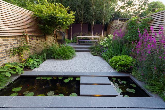 Private garden designed by John Davies contemporary-landscape
