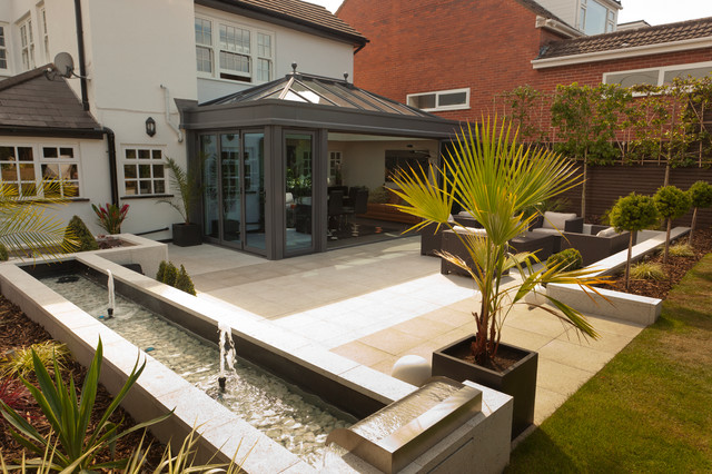 Contemporary Glass Extension Orangery Tropical