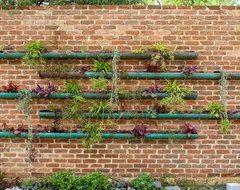 copper vertical garden contemporary landscape