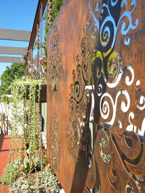 Corten Steel Garden Screens Contemporary Garden